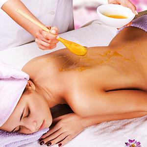 masaj cu miere